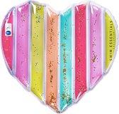 Swim Essentials Regenboog hart luchtbed multicolour