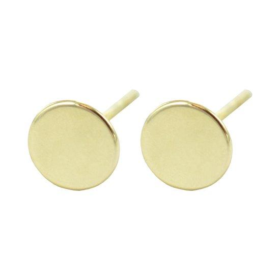 Silventi 9NBSAM-G190096 Gouden Oorknopjes - Dames - Rondje - Glad - 5 mm Doorsnee - 14 Karaat - Goud
