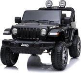 Jeep Wrangler - Elektrische Kinderauto - Accu Auto - Sterke Accu - Afstandbediening - Zwart