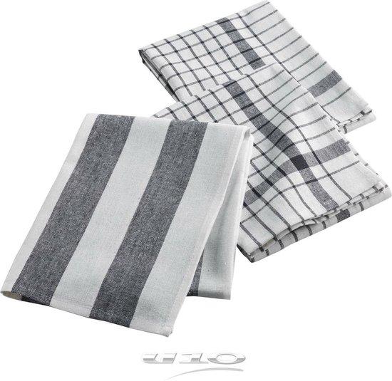 Theedoeken - Zwart - 50x70 - 3 stuks