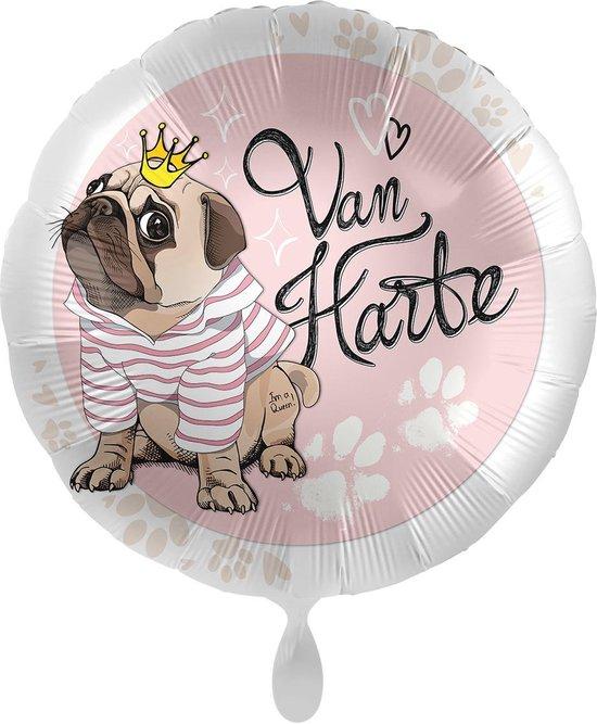 Everloon - Folieballon - Van Harte - 43cm - Mopshond