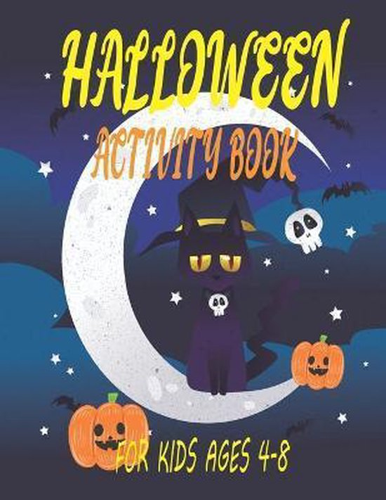 Halloween Activity Book for Kids Ages 4-8