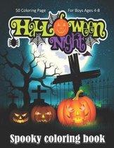 Halloween Night, Spooky Coloring Book