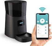 DKProducts Automatische Voerbak Zwart - Voerautomaat Met App - Smartphone Besturing - Voerinhoud 6 Liter - Voor Katten- en Hondenvoer - Droogvoer - Voedingsschema - WiFi