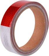 Reflecterende tape - ROOD- WIT - 3 meter - 25mm