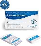 2 stuks Telano Multidrugstest 10 Urine - THC - Cocaïne - Ecstasy - Ketamine - Speed - MET - Heroïne - Slaapmiddelen - Benzodiazepines - Methadon