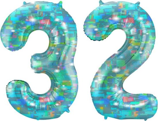 Cijfer 32 Galactic Aqua (86cm)
