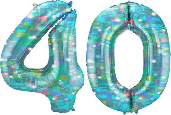 Cijfer 40 Galactic Aqua (86cm)