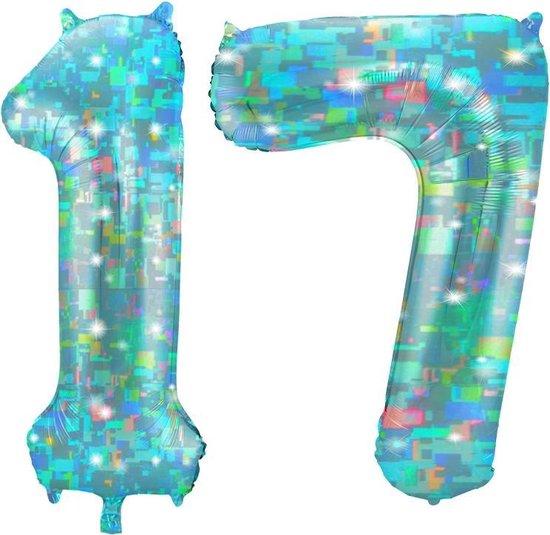 Cijfer 17 Galactic Aqua (86cm)