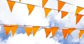 Oranje Vlaggetjes Oranje vlaggenlijn met 20 puntvlaggen - EK accessoires - Oranje versiering - EK 2021 - EK voetbal - 10 meter