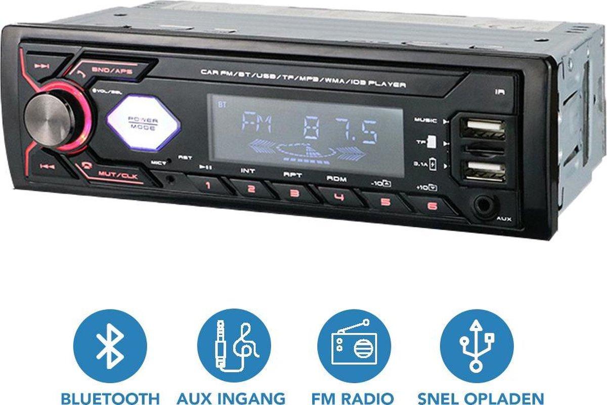Autoradio - Handsfree AUX BLUETOOTH USB SD - Alle auto's - Auto Radio - Enkel din - Afstandsbedienin