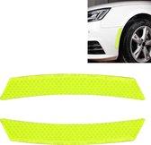 2 stks auto-styling wiel wenkbrauw decoratieve sticker decoratieve strip (groen)