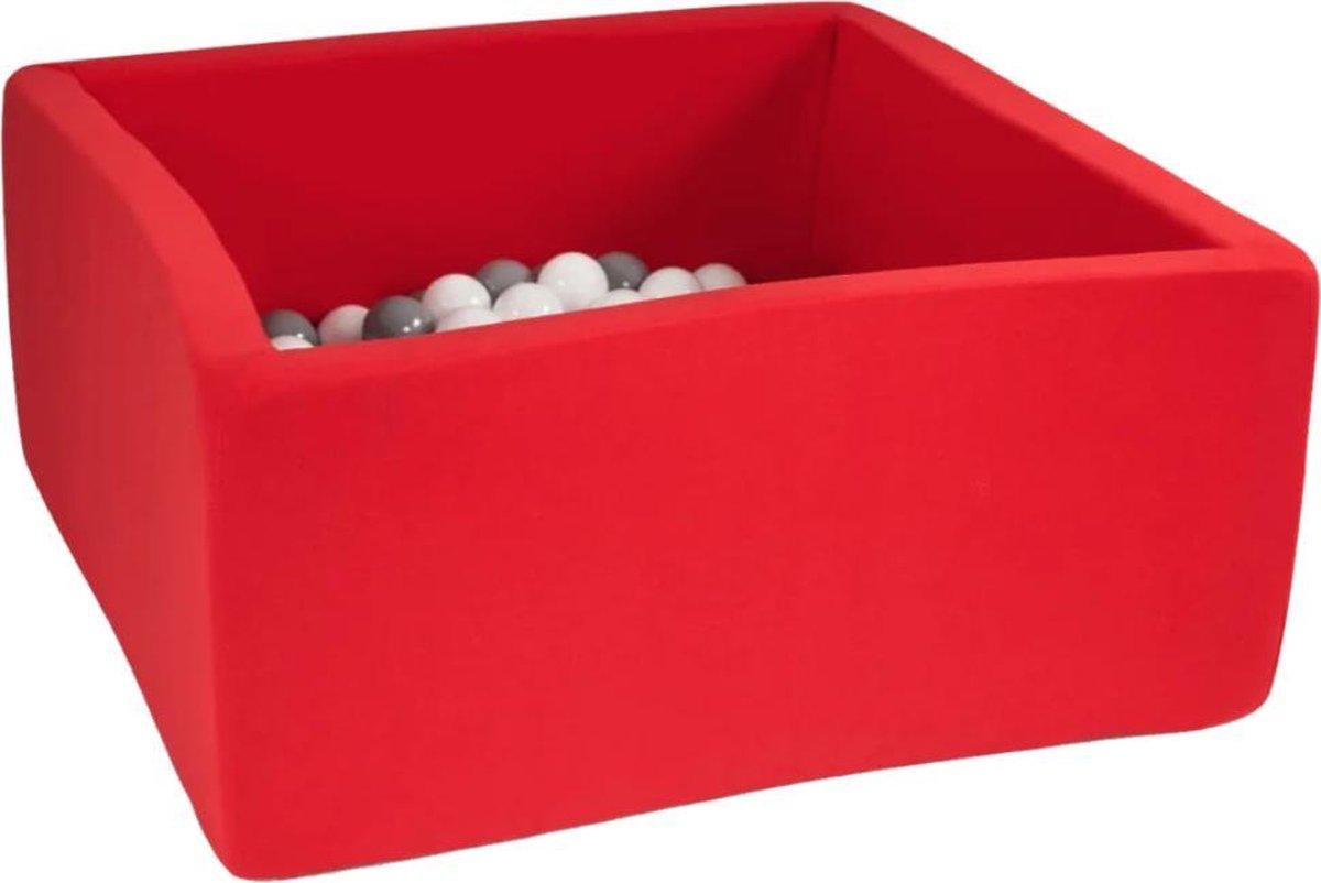 Misioo Ballenbak Rood   Vierkant   Ballenbak met ballen   Inclusief 150 allen