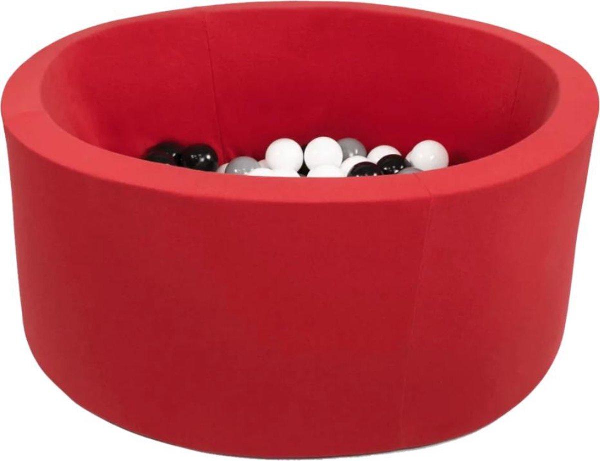 Misioo ronde ballenbak Rood   Ballenbak inclusief 150 ballen   Ballenbak met ballen