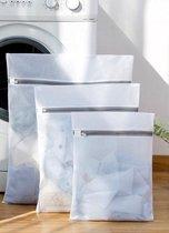 Wowup | Laundry bag | Waszak | Set van 4 waszakken met rits | Transparant | Wasnet | Waszakjes | Vakantie als kledingsorteerder | Groot formaat | Laken/schoenen/bh/ondergoed/kleding