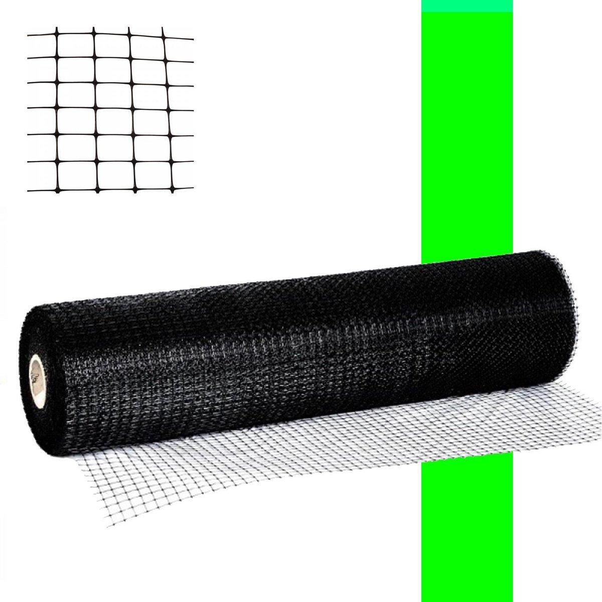 Kattengaas zwart 1,0 x 15,0 meter Multifunctioneel toepasbaar gaas.