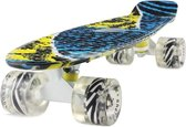 2Cycle Skateboard - LED Wielen - 22.5 inch - Blauw-Geel Print