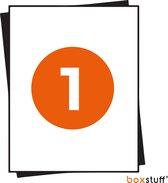 A4 Stickervellen - Magazijn Etiketten Stickers - Geschikt Inktjet en Laser Printers - 1 Per Vel - 210x296MM