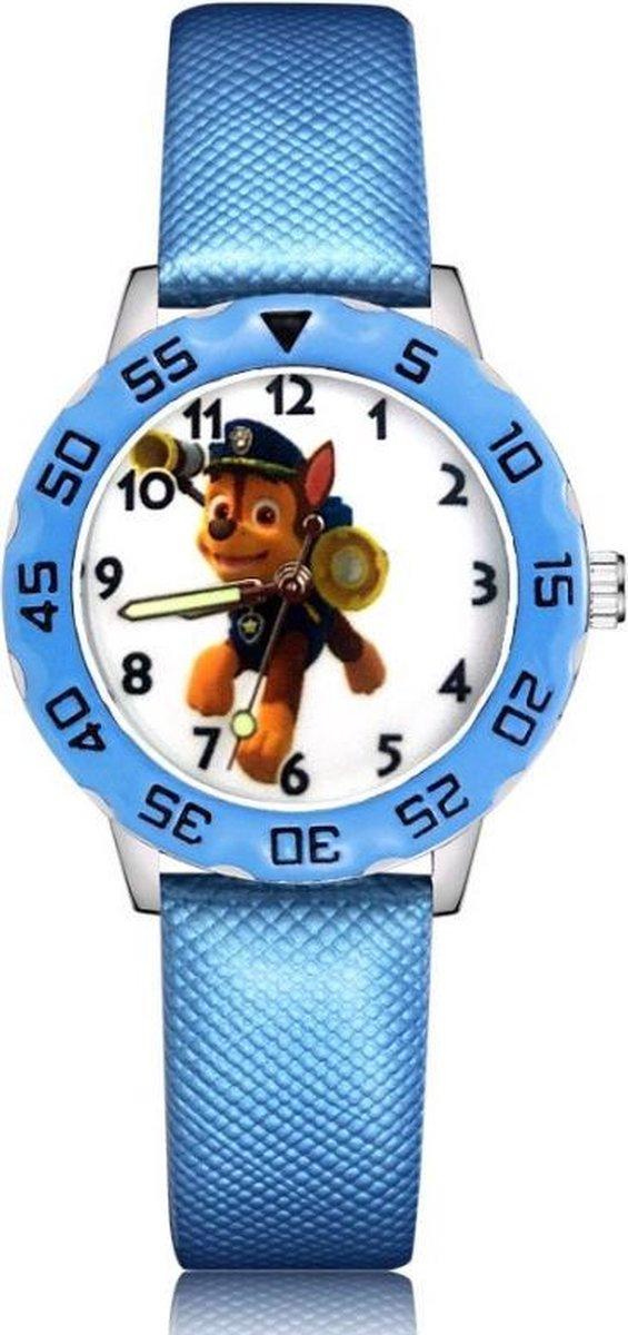 Paw Patrol horloge Chase met glow in the dark wijzers deluxe
