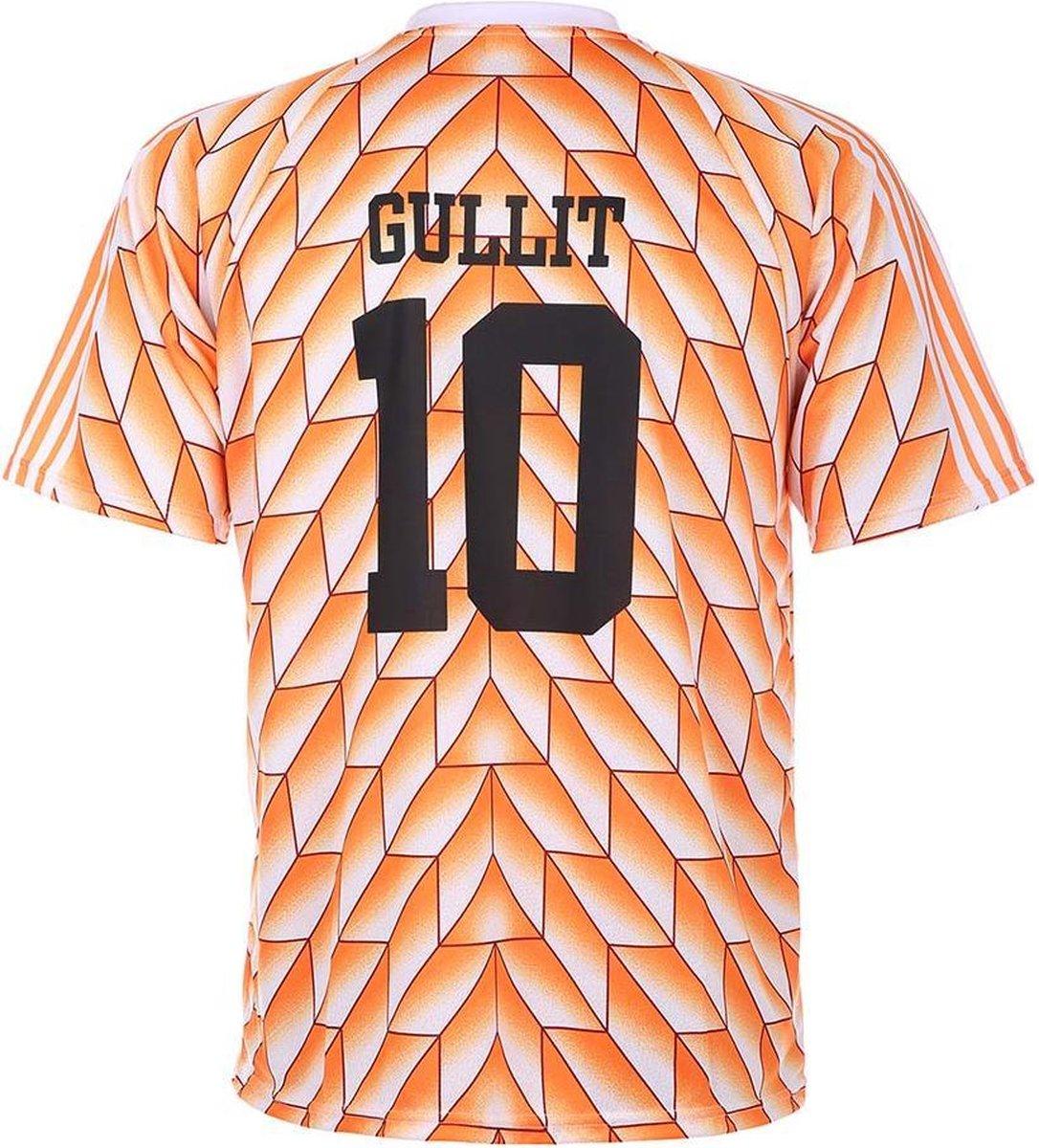 EK 88 Voetbalshirt Gullit 1988 - Oranje - Kids - Senior-L
