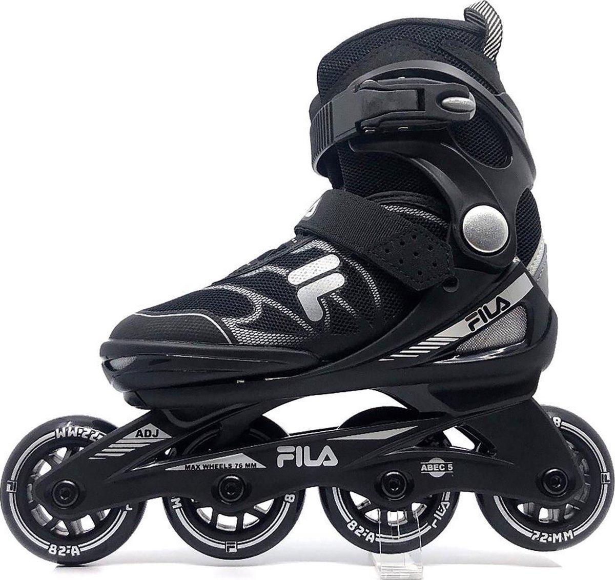 Fila - Verstelbare inline skates - J one - 21' - Maat 28-32 - Zwart - Grijs