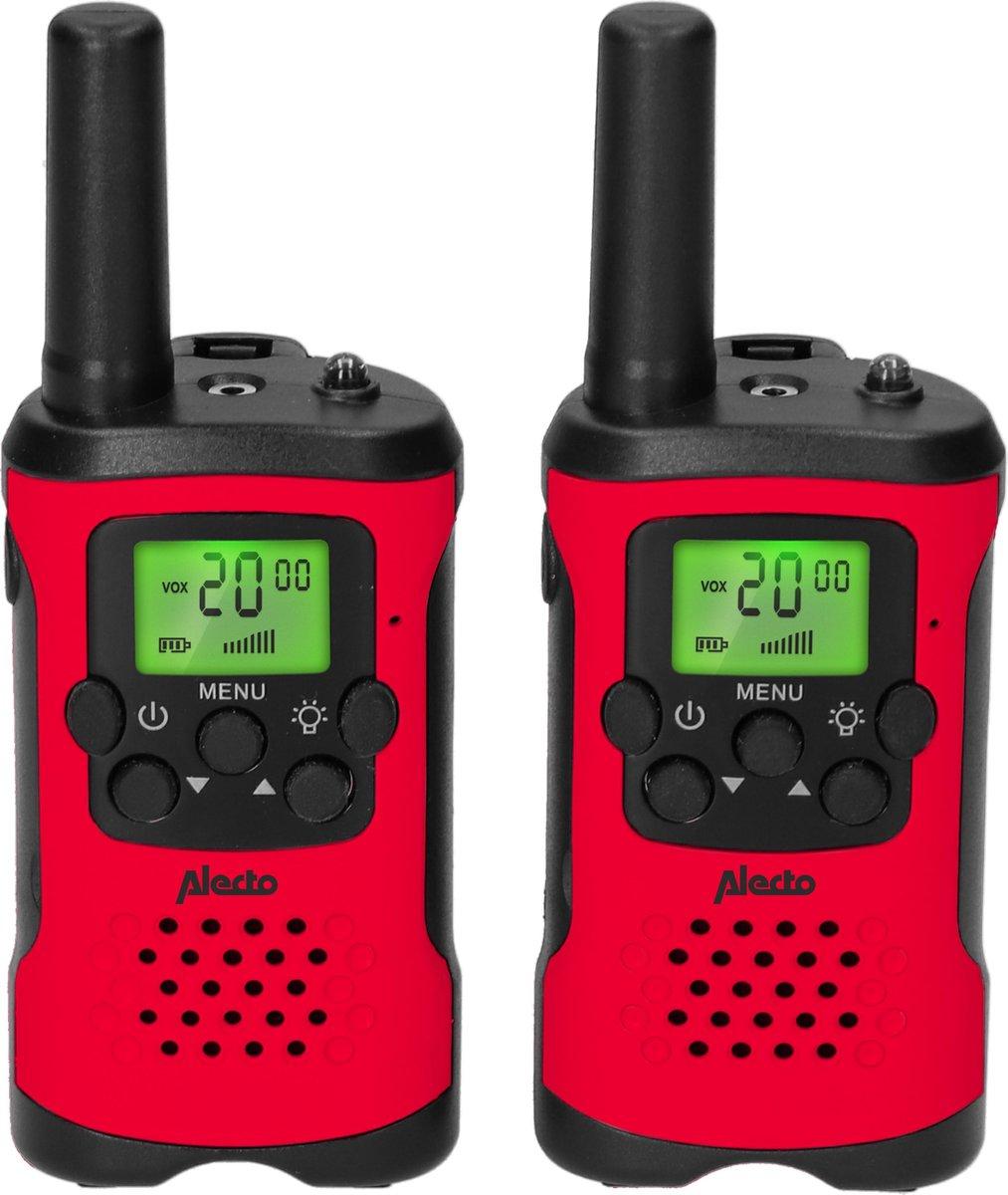 Alecto FR115RD - Set van twee walkie talkies voor kinderen - tot 7 kilometer bereik, Rood