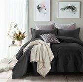 Sleeptime Bedsprei Wave - 260 x 250 + 2 kussenslopen 60x70 - Zwart