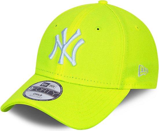 New Era 9Forty League Essential LA Dodgers  Sportcap - Maat One size  - Unisex - neon geel/grijs