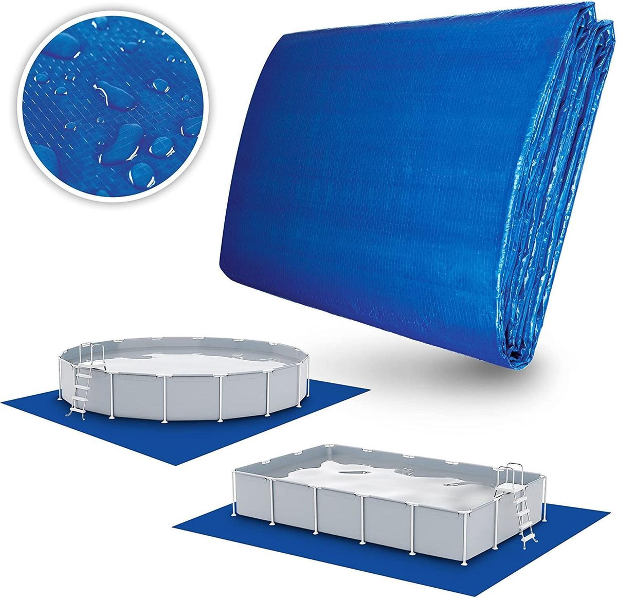 Sens Design ondervloer zwembad grondzeil ondertapijt zwembad - 396 x 396 cm