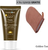 BeautyFit - Zelfbruiner Gezicht/Lichaam Creme + Tanning handschoen (t.w.v. 12.99) - Self tanning  50 ml - Snel Bruin Zonder Zon