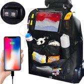 Afbeelding van Luxergoods Autostoel Organizer met Tablet Houder - Nieuw 2021 Model - Auto Organizer - Voor Kinderen - Inclusief 2 Gratis Autohaken