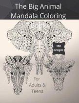 The Big Animal Mandala Coloring Book