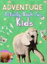 Adventure Activity Book for Kids: Amazing Adventure Activity Book with Coloring, Mazez, Sudoku and Wordsearch for Kids Ages 4-8, 3-8 Over 70 Pages of