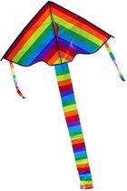 Vlieger volwassenen   Vliegers voor kinderen   Vliegers voor jongens   30 meter lijn   Vlieger kinderen   Vliegers   Regenboog   190 cm x 95 cm   Able & Borret