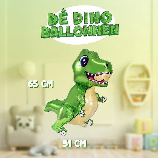 XXL 3D Dinosaurus Ballon met losse opblaasbare handen en voeten! | 65cm hoog | Blaas hem op en beweeg de handen en voeten | Eenvoudig staand neer te zetten of zwevend met helium