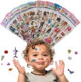 10 Vellen, ± 200 Stuks 3D Foam Stickers Kleurrijke Motivatie Beloning Vlij Stickers voor Kinderen & Sticker Liefhebbers van elke leeftijd – Verschillende thema's, herkenbaar voor iedereen, Disney Figuren, Stipfiguren, Superhelden...