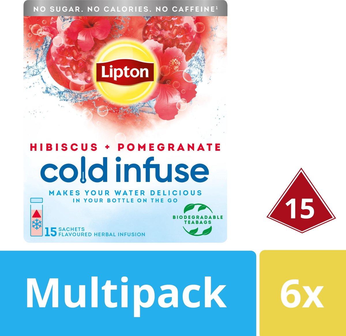 Lipton Pomegranate & Hibiscus Cold Infuse - 90 zakjes
