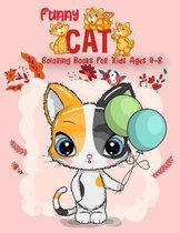 Funny Cat Coloring Books For Kids ages 4-8
