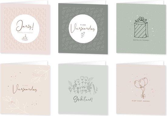 Wenskaarten verjaardag/feest Eclipse - set van 6 dubbele kaarten - inclusief enveloppen