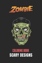 Zombie Coloring Book: Black Background: