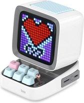 Divoom® Ditoo Draagbare Bluetooth Speaker Met Retro Pixeldisplay - Retro Games - Retro Radio Inclusief Opbergdoos - Wit