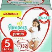 Pampers Premium Protection Pants Luierbroekjes - Maat 5 (12-17 kg) - 132 Stuks - Maandbox