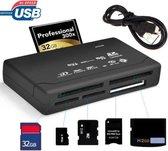 Astilla   All In One USB 2.0 Geheugenkaartlezer CF/MS/TF/M2/(micro) SD Kaartlezer - Memory Card Reader - PC & Mac