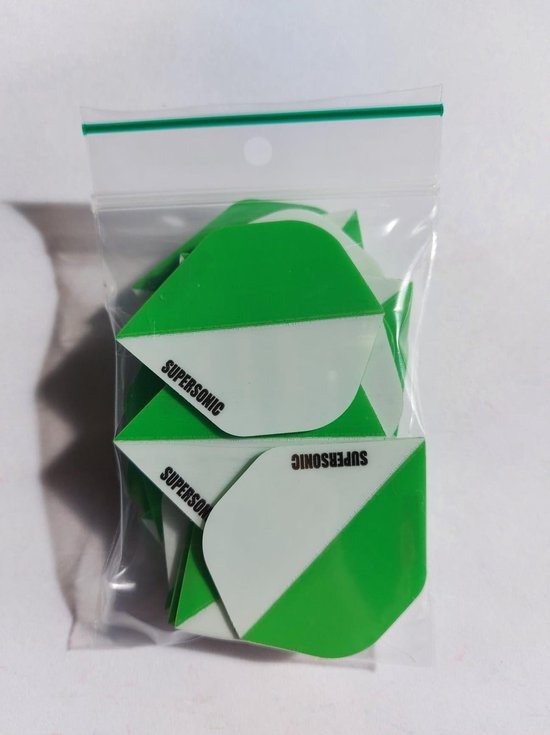 Thumbnail van een extra afbeelding van het spel Supersonic 2 colours Dart Flights - 10 sets (30 stuks) - 100 micron dik