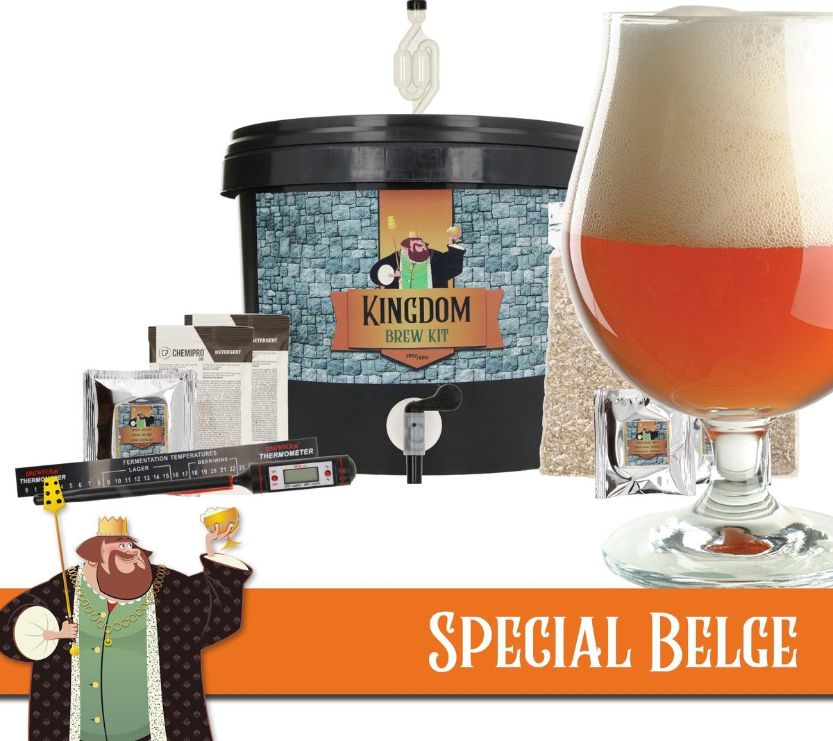 KINGDOM Bierbrouwpakket - startpakket - Special Belge - Bock  - zelf bier brouwen - starterspakket b