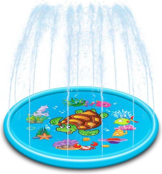Femur®️ - Water Fontein - Opblaasbare Waterspeelmat - Verkoeling - Hondenzwembad - Water Speelmat - 170CM