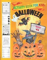 Halloween Activity Book for Kids Ages 4-8.