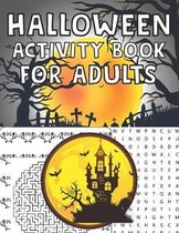 Halloween Activity Book For Adults