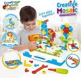 Gereedschap Kinderen Speelgoed - Creatieve 3D puzzel - Boormachine Speelgoed - Montessori Speelgoed - Educatief Speelgoed Vanaf 3 Jaar - Gezelschapsspellen Kinderen - Verjaardag Cadeau kinderen - 237 Stukken