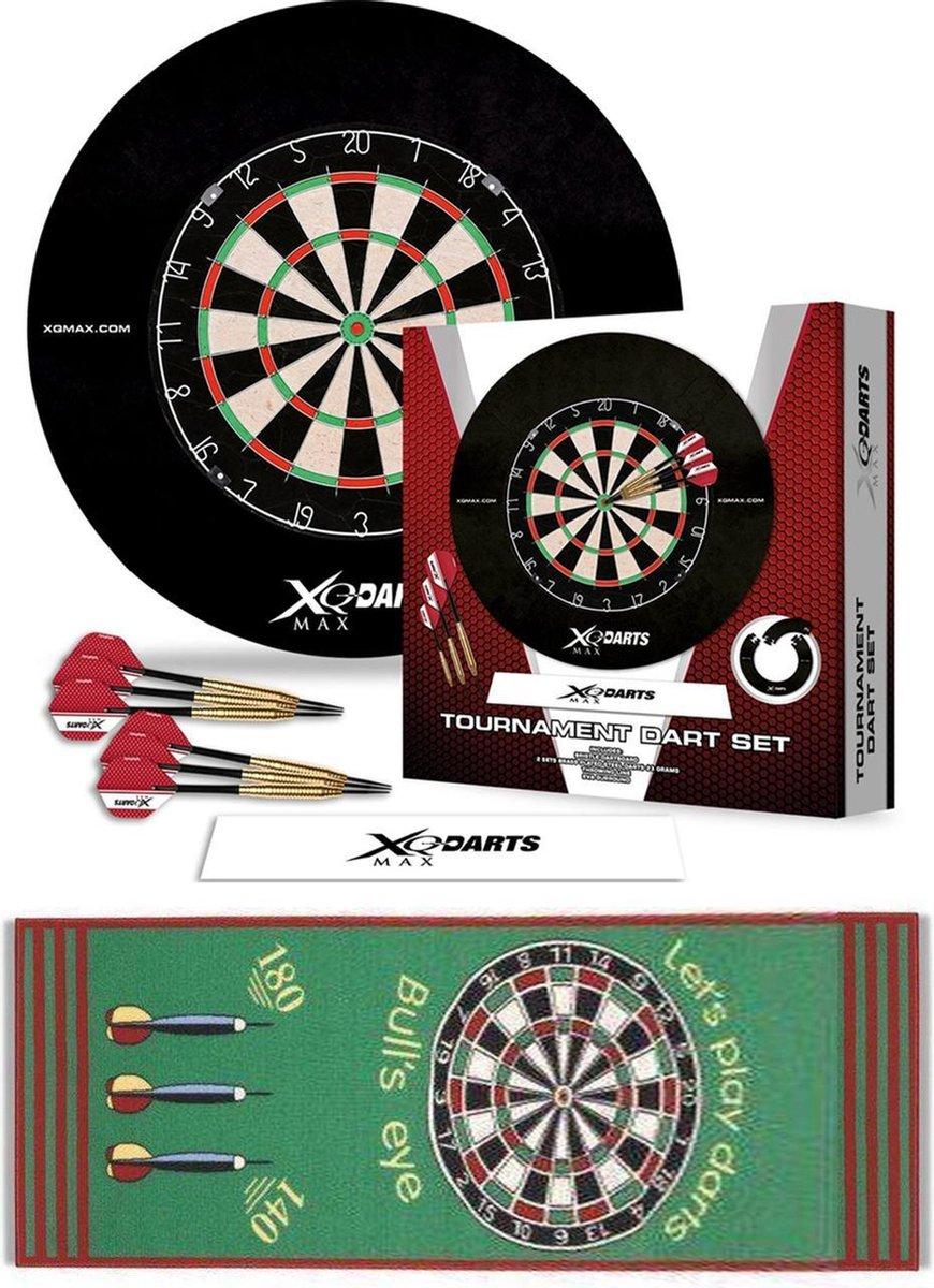Dragon Darts Tournament set groen - dartbord - dartpijlen - dart flights - dartmat - complete - dartset